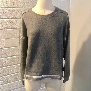 NEW Splendid Grey Metallic Pullover Sweatshirt